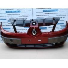 Бампер передний Renault Рено Scenic 2 2003-2008 красный-металлик