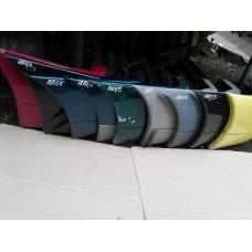 Бампер задний под ляду Mercedes Мерседес Vito 638 1996-2003 (черный, синий)