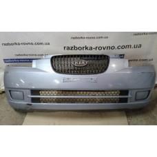 Бампер передний Kia Киа Picanto 1 2004-2010 серый