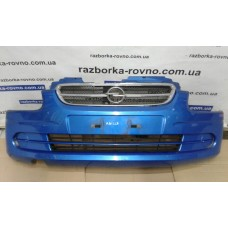 Бампер передний Opel Опель Agila 2003 синий