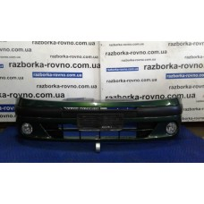 Бампер передний Renault Рено Scenic 2 2003-2008 зеленый-металлик (с галогенками)