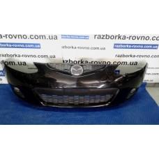Бампер передний Mazda Мазда 2 2003-2018 черный