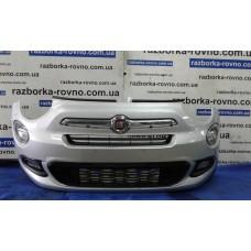 Бампер передний Fiat Фиат 500X 2014-2018 светло-серый