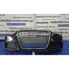 Бампер передний Audi A1 2010-2018 черный