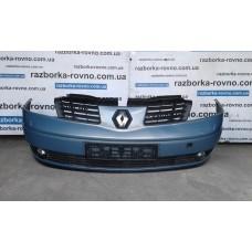 Бампер передний Renault Espace 2003-2006 голубой (с туманками и омывателями)