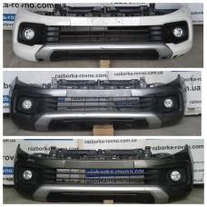 Бампер передний Mitsubishi L200, Fiat Fullback 2016-2019 с противотуманными фарами Мицубиси Фиат Фулбэк