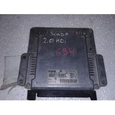 Блок управления двигателем  Peugeot Пежо 806 / Citroen Ситроен Jumpy 2.0HDI 1995-07 0281010135 9636254580