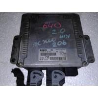 Блок управления двигателем  Peugeot Пежо 206 2.0HDI 2002 0281010594 9642013980