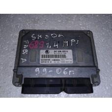 Блок управления двигателем  Skoda Шкода Fabia 1.4 2002 047906033H 5WP40179 12