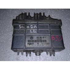 Блок управления двигателем Volkswagen Фольксваген Caddy II / Polo 6N 1.4 1995-04 0261204593 6K0906027E