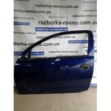 Дверь передняя левая Opel Опель Corsa 2003 синяя
