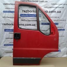 Дверь передняя правая Fiat Фиат Ducato / Peugeot Пежо Boxer / Citroen Ситроен Jumper 2002-2006 красная, белая
