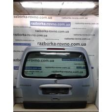 Дверь ляда Peugeot Пежо Partner / Citroen Ситроен Berlingo 1996-2007 под стекло серо-голубая