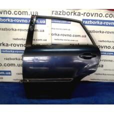 Дверь задняя левая Lexus Лексус RX 400h 2003-2009 темно-синяя
