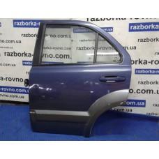 Дверь задняя правая Kia Киа Sorento 2002-2009 темно-синяя