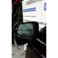 Зеркало левое Volkswagen Фольксваген Touareg 5.0 V10 TDI AYH 2003 черное с повторителем поворота