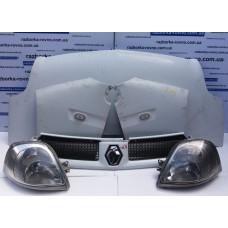 """""""Морда"""" в сборе Renault Master 2003-2010, цвет - белый: капот, крылья, решетка радиатора, фары Рено"""