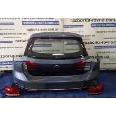 Комплект задний в сборе Volkswagen Passat B8 2014+, цвет - светло-синий: ляда, бампер задний, фонари Фольксваген