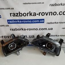 Фара левая нижняя MG Hector Chevrolet Captiva 2020г черная линза без блочков